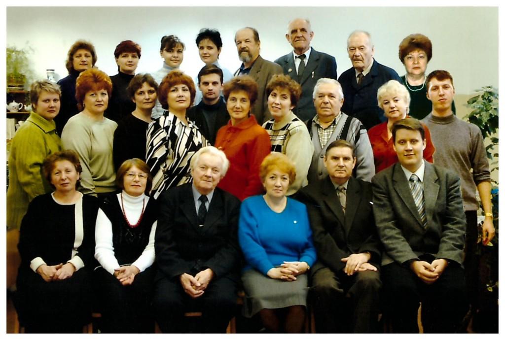 3-й слева в ниж.ряду начальник отдела прочности Салтыков Михаил Алексеевич