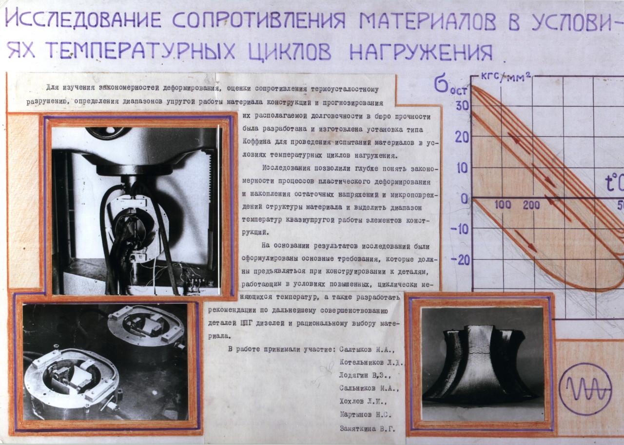 Исследование сопротивления материалов в условиях температурных циклов нагружения